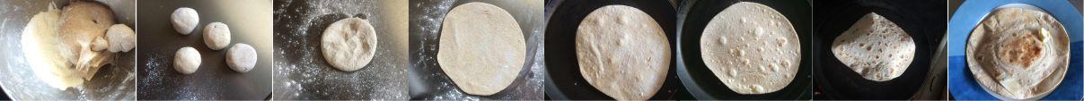 Chapati Zubereitung