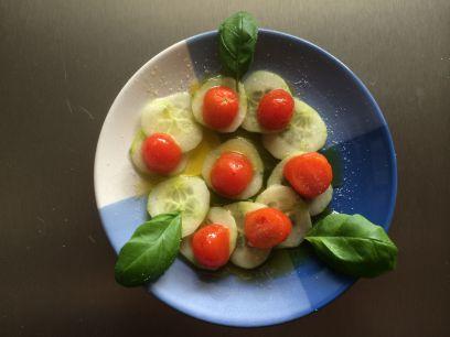 Salat Tomaten und Gurken
