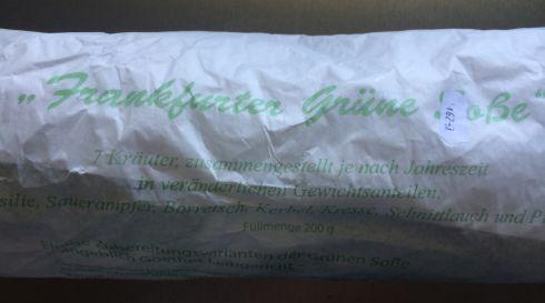 grüne Sosse packung