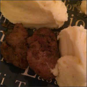 Geflügelleber Kartoffelbrei