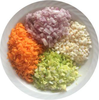 Gemüse für Linsen