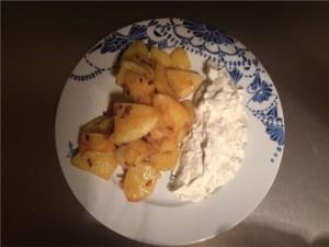 Quark mit Bratkartoffeln