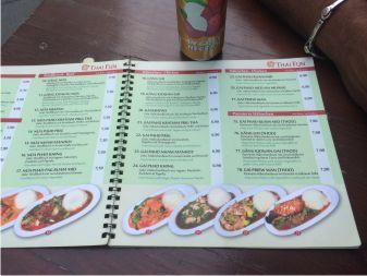 Speisekarte Thai Food