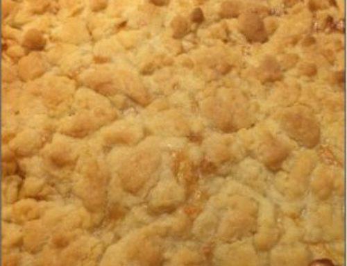 Streuselkuchen mit Apfel oder auch anderen Füllungen