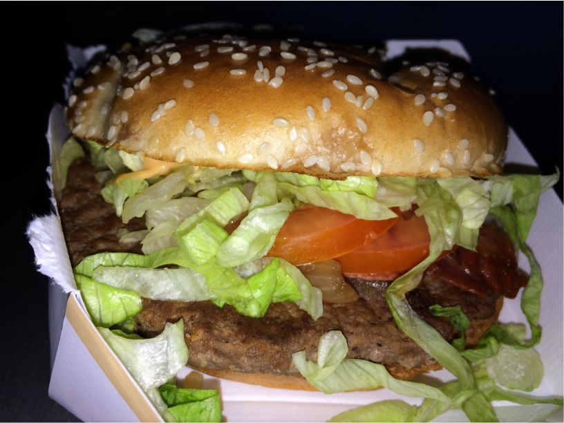 Teller Fastfood Hamburger
