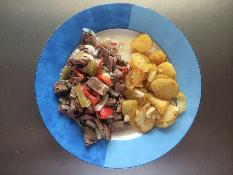 Teller Rindfleischsalat