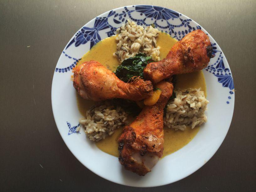 Teller honig Curry Sosse Huhn