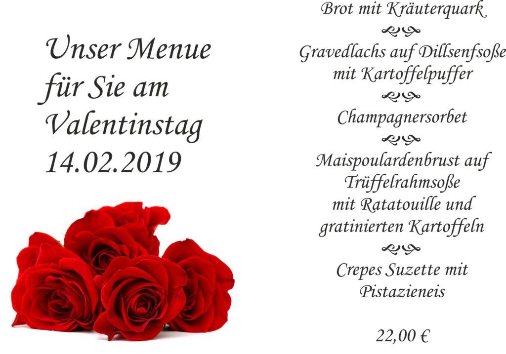 Valentinsmenue 2019